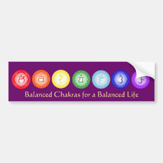 7 Chakras Bumper Sticker