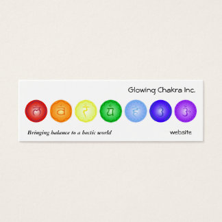 7 Chakras in a Line Mini Business Card