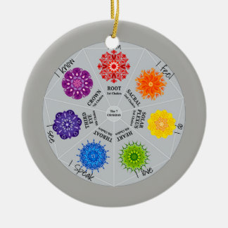 7 Chakras Wheel Ceramic Ornament