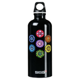 7 Chakras Yoga Liberty Bottle SIGG Traveller 0.6L Water Bottle