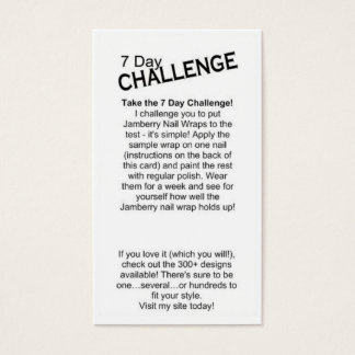 7 Day Challenge Card