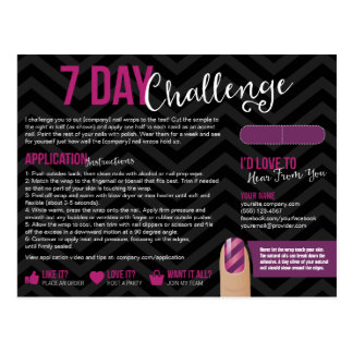 7 Day Challenge Sample Card Postcards