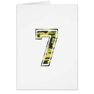 #7 Green & Yellow Camo Card