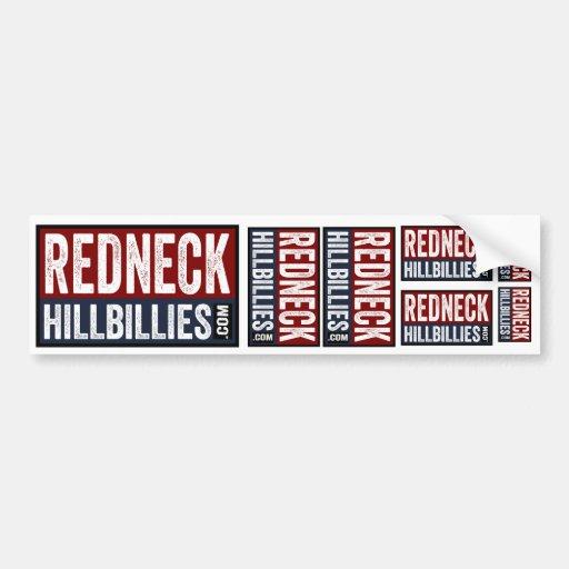 7 in 1  Redneck Hillbillies dot com bumper sticker