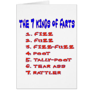 7 KINDS OF FARTS CARD