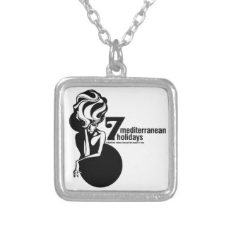 7 mediterranean holidays silver plated necklace