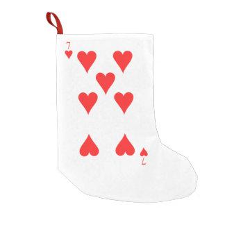 7 of Hearts Small Christmas Stocking
