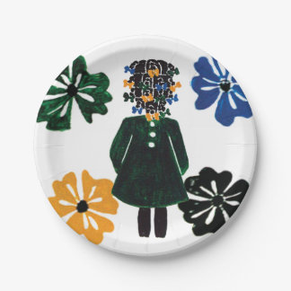 "7"" paper plates by Rose Hill"