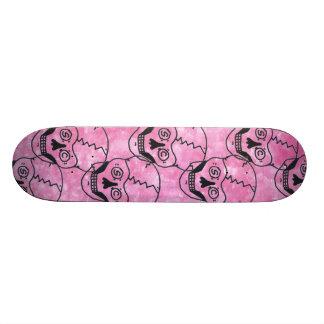 7 pink skull skateboard deck sky pink