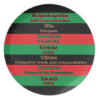 7 Principles of Kwanzaa Plate