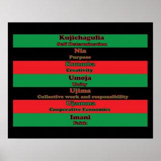 7 Principles of Kwanzaa (Vertical) Poster
