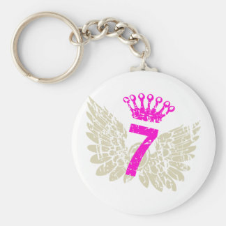 #7 Raspberry Wings Basic Round Button Key Ring
