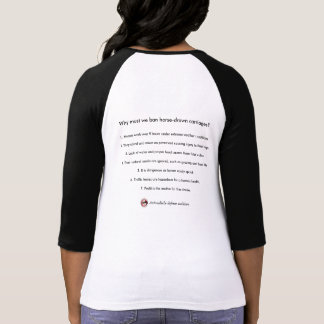 7 reasons: Why must we ban horse-drawn carriages? T-Shirt