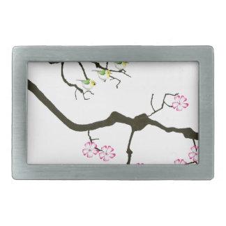 7 sakura blossoms with 7 birds, tony fernandes belt buckle