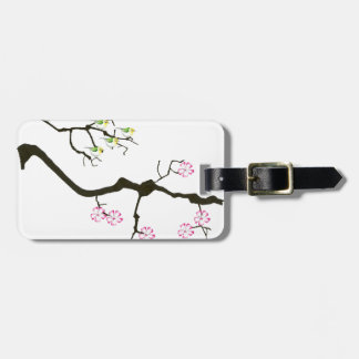7 sakura blossoms with 7 birds, tony fernandes luggage tag