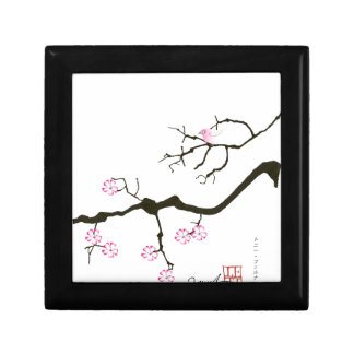 7 sakura blossoms with pink bird, tony fernandes gift box
