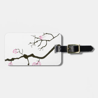 7 sakura blossoms with pink bird, tony fernandes luggage tag
