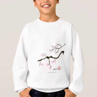 7 sakura blossoms with pink bird, tony fernandes sweatshirt