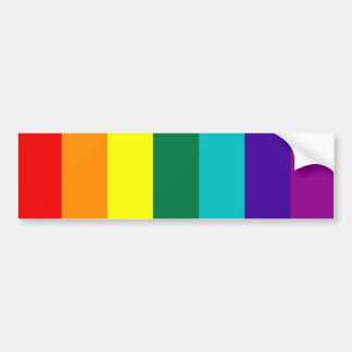 7 Stripes Rainbow Gay Pride Flag Bumper Sticker