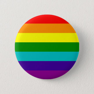 7 Stripes Rainbow Gay Pride Flag Button