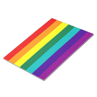 7 Stripes Rainbow Gay Pride Flag Notepad
