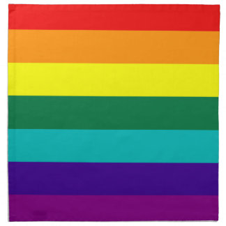 7 Stripes Rainbow Pride Flag American MoJo Napkin
