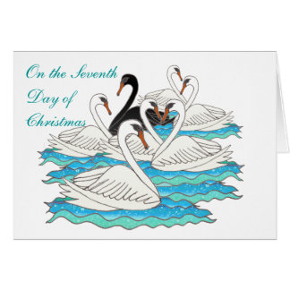 7 Swans aSwimming Card