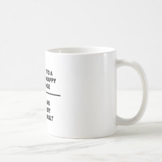 7 Words For A Long and Happy Marriage Basic White Mug