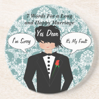 7 Words For A Long And Happy Marriage Coasters