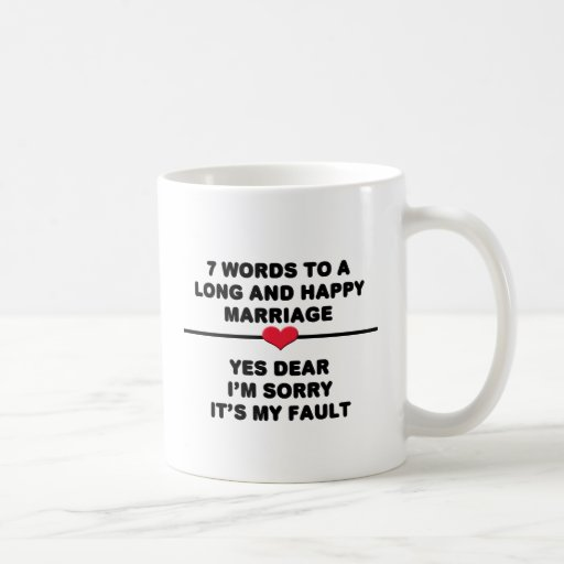 7 Words For A Long and Happy Marriage Mugs