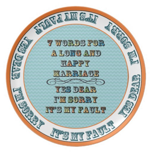 7 Words for a Long and Happy Marriage Plate