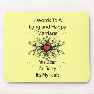 7 Words To A Long Marriage Mouse Mats