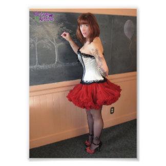 "7"" x 5"" Chrissy Kittens Chalk One Up Photo Art"