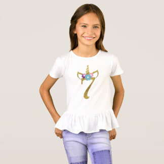7 years old Unicorn Birthday Girl for Kids T-Shirt