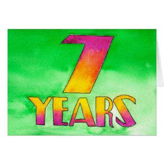 7 Years Sobriety Birthday / Anniversary Card