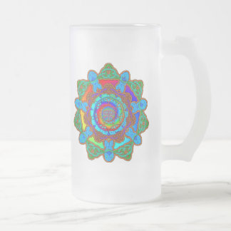 7fish frosted glass mug