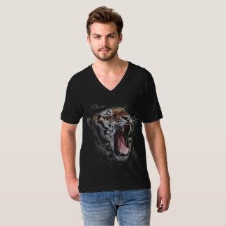 7stars Tiger roaring v-neck t-shirt