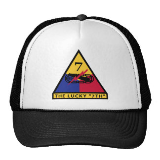 """7th Armored Division - THE LUCKY """"7TH"""" Trucker Hats"""
