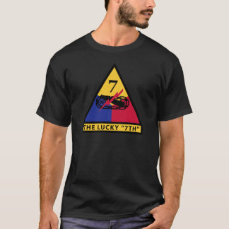 """7th Armored Division - THE LUCKY """"7TH"""" T-Shirt"""