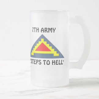 7th Army frm/1 Frosted Glass Beer Mug
