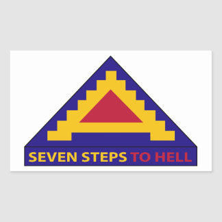 7th Army - Seven Steps To Hell Rectangular Sticker