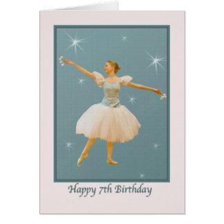 7th Birthday, Ballet Dancer Greeting Card