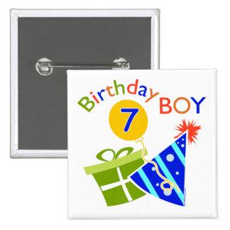 7th Birthday - Birthday Boy Button