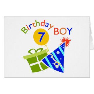 7th Birthday - Birthday Boy Greeting Cards