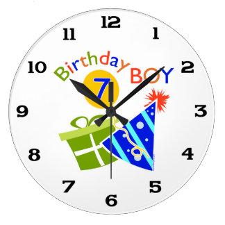 7th Birthday - Birthday Boy Clocks