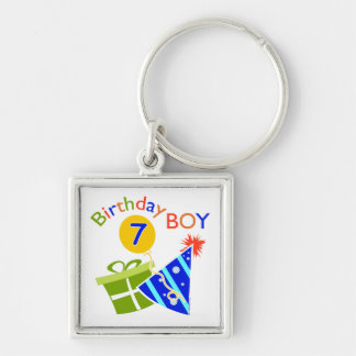 7th Birthday - Birthday Boy Key Chains