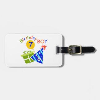 7th Birthday - Birthday Boy Tags For Bags