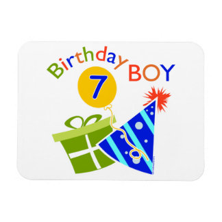 7th Birthday - Birthday Boy Magnets