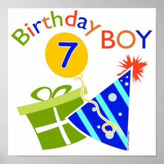 7th Birthday - Birthday Boy Posters