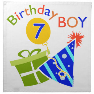 7th Birthday - Birthday Boy Printed Napkin